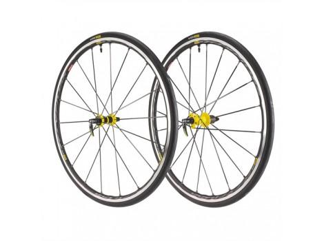 """Paire de roues vélo Route Mavic Ksyrium Elite UST 28"""" avec pneus"""