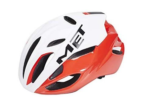 Casque vélo Met Rivale Blanc/Rouge