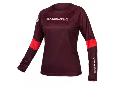 T-shirt VTT Femme Endura manches longues MT500 Print II - Edition Limitée