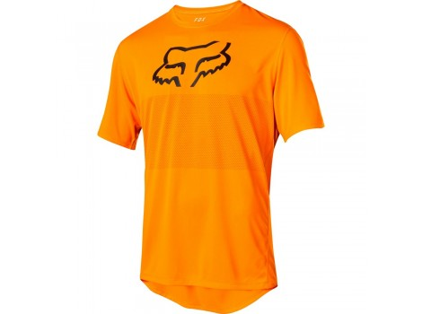 Maillot VTT Fox Ranger Orange logo Noir - 23029