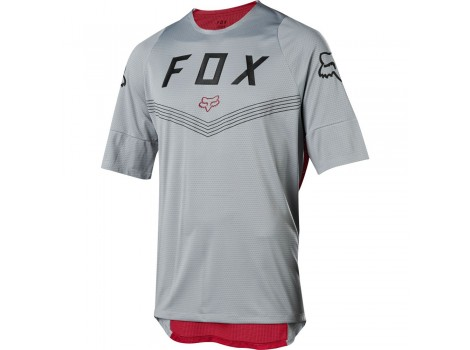 Maillot VTT Fox Defend Fine Line Gris/Rouge - 23809