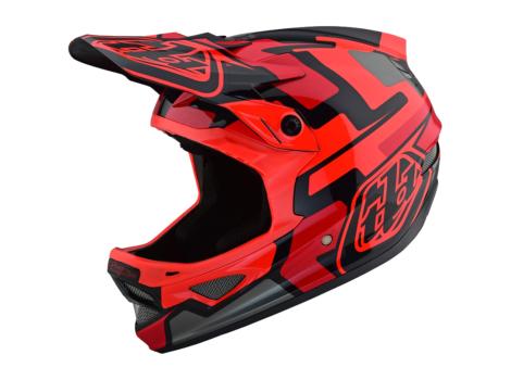 Casque VTT intégral Troy Lee Designs D3 Fiberlite Speedcode Rouge