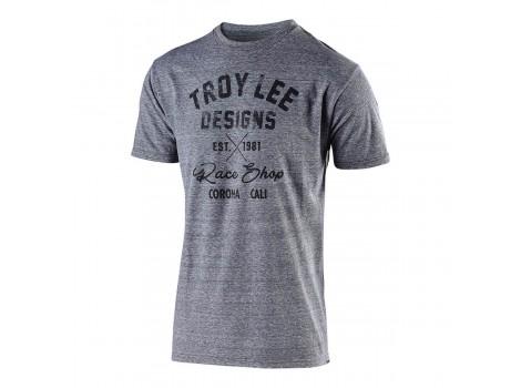 T-shirt VTT Troy Lee Designs Vintage Race Shop Gris