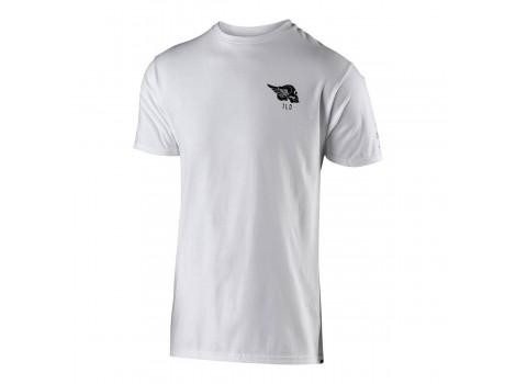 T-shirt vélo Agent Skully blanc 100% coton
