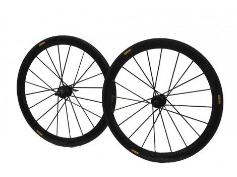 Paire de roues vélo route Mavic Cosmic Carbon SLR Exalith - Occasion