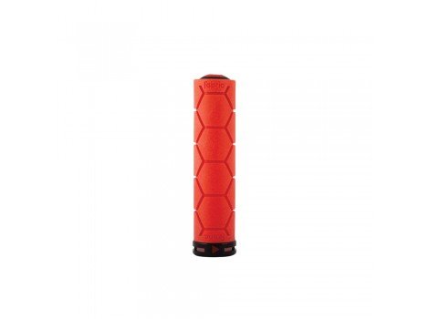 Poignée VTT Fabric Silicone Lock-on grip - Rouge