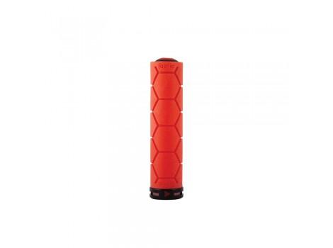 Poignée VTT Fabric Silicone Lock-on grip - Rouge