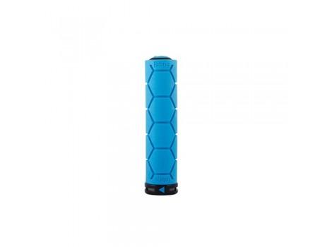 Poignée VTT Fabric Silicone Lock-on grip - Bleu