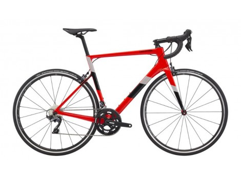 Vélo route Cannondale Super Six Evo Carbone Shimano 105 Disc Rouge - 2020