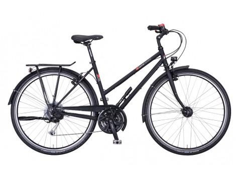 Vélo trekking VSF Fahrradmanufaktur T100 Shimano 27 G V-brake Trapèze - 2019