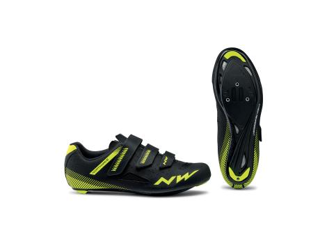Chaussures route Northwave Core3 Velcro Noir/Jaune
