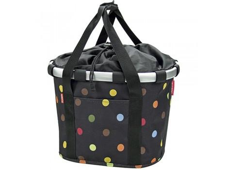 Panier textile Klickfix Bikebasket Dots 15 l - 0303DO
