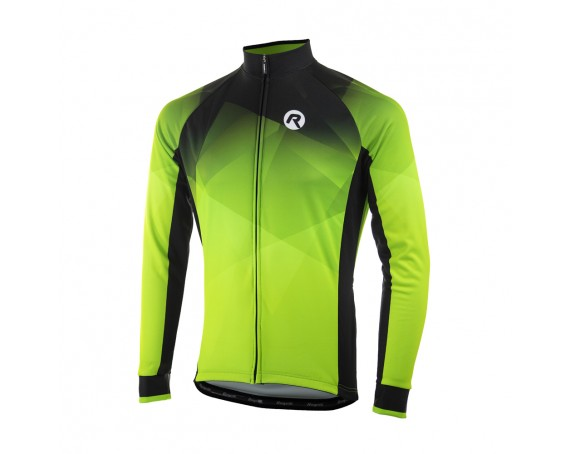 Maillot hiver Rogelli LS Ispirato 2.0 Fluo/noir