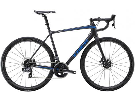 Vélo route Trek Emonda SL 7 Disc eTap Noir mat Bleu - 2020