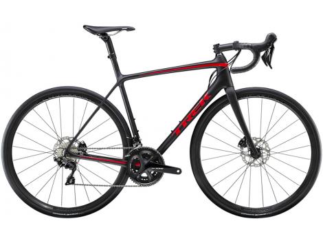 Vélo route Trek Emonda SL 5 Disc Noir mat Rouge - 2020
