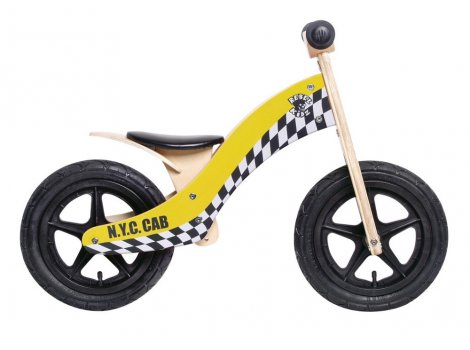 Draisienne en bois Rebel Kidz Wood Air 12.5 - Jaune
